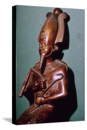 Egyptian statuette of Osiris. Artist: Unknown-Unknown-Stretched Canvas Print