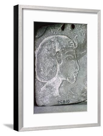 Relief showing the head of Akhenaten, 14th century BC. Artist: Unknown-Unknown-Framed Giclee Print