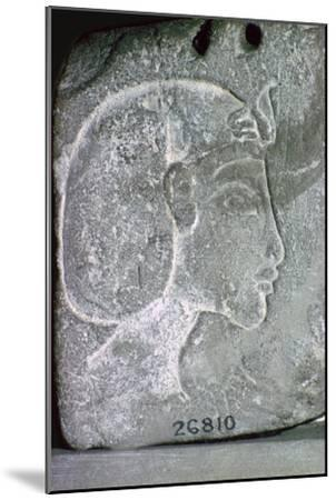 Relief showing the head of Akhenaten, 14th century BC. Artist: Unknown-Unknown-Mounted Giclee Print