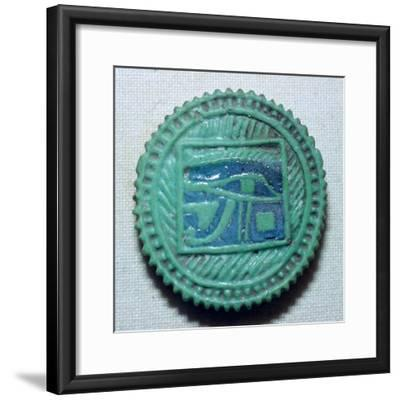 Egyptian faience amulet. Artist: Unknown-Unknown-Framed Giclee Print