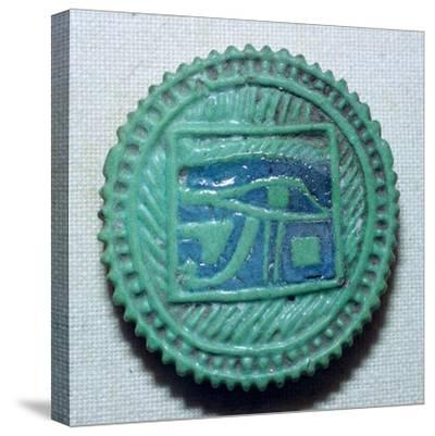Egyptian faience amulet. Artist: Unknown-Unknown-Stretched Canvas Print