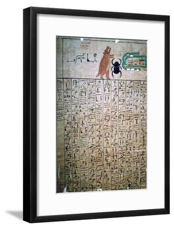 Egyptian hieroglyphs from a Book of the Dead. Artist: Unknown-Unknown-Framed Giclee Print