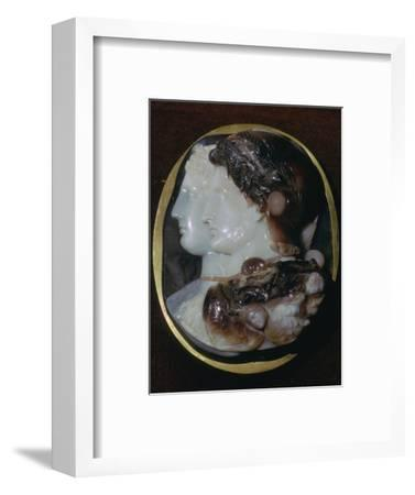 Cameo of the Egyptian ruler Ptolemy II and his wife, 3rd century BC Artist: Unknown-Unknown-Framed Giclee Print