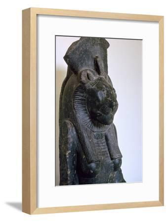 Statuette of the Egyptian goddess Sekhmet. Artist: Unknown-Unknown-Framed Giclee Print