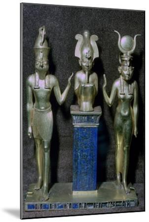 Egyptian gold statuettes of Osiris, Horus, and Isis. Artist: Unknown-Unknown-Mounted Giclee Print