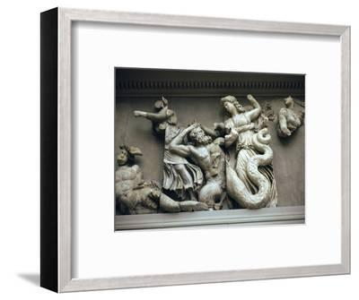 Detail of the relief from the Altar of Zeus. Artist: Unknown-Unknown-Framed Giclee Print