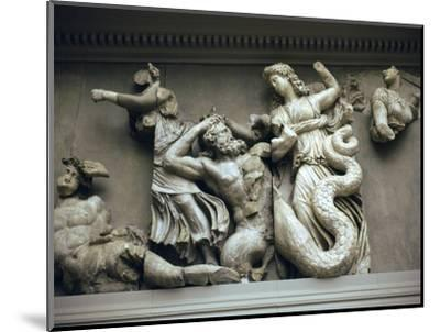 Detail of the relief from the Altar of Zeus. Artist: Unknown-Unknown-Mounted Giclee Print