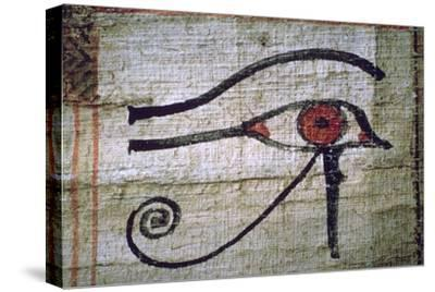Detail of an Egyptian papyrus showing the eye of Horus. Artist: Unknown-Unknown-Stretched Canvas Print