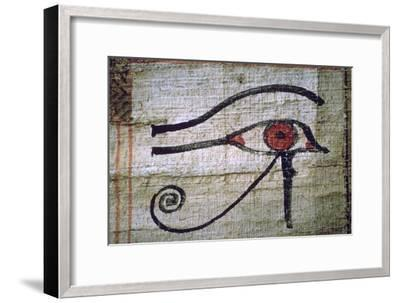 Detail of an Egyptian papyrus showing the eye of Horus. Artist: Unknown-Unknown-Framed Giclee Print