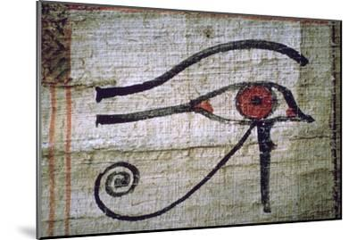 Detail of an Egyptian papyrus showing the eye of Horus. Artist: Unknown-Unknown-Mounted Giclee Print