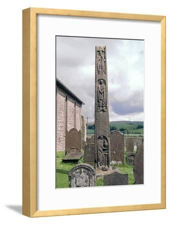 Bewcastle Anglo-Saxon Cross, 7th century. Artist: Unknown-Unknown-Framed Giclee Print