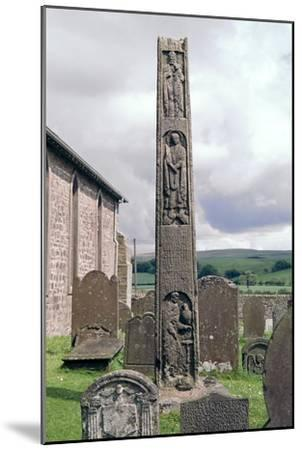 Bewcastle Anglo-Saxon Cross, 7th century. Artist: Unknown-Unknown-Mounted Giclee Print