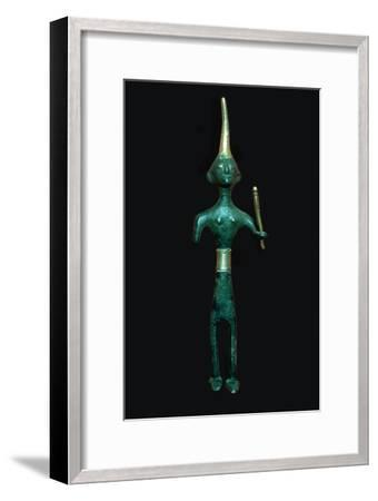 Bronze and gold Canaanite deity. Artist: Unknown-Unknown-Framed Giclee Print
