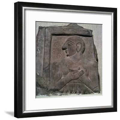 Portrait-relief of Enannatum I. Artist: Unknown-Unknown-Framed Giclee Print