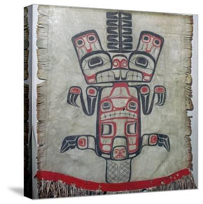 Native American dance apron. Artist: Unknown-Unknown-Stretched Canvas Print