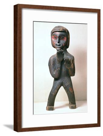 Kwakiutl tribe Native American grave marker. Artist: Unknown-Unknown-Framed Giclee Print