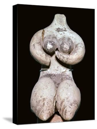Syrian baked clay fertility figure, 5th century BC. Artist: Unknown-Unknown-Stretched Canvas Print
