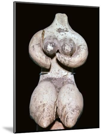 Syrian baked clay fertility figure, 5th century BC. Artist: Unknown-Unknown-Mounted Giclee Print