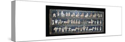 The 'Peace' side of the Standard of Ur, southern Iraq, about 2600-2400 BC. Artist: Unknown-Unknown-Stretched Canvas Print