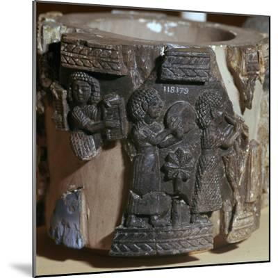 Procession of musicians on a steatite pyxis, 8th century BC. Artist: Unknown-Unknown-Mounted Giclee Print