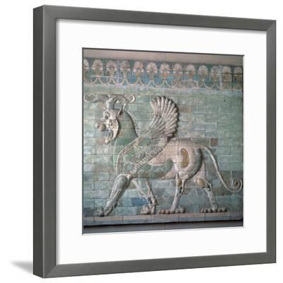 Persian enamelled brick Griffon, 6th century BC. Artist: Unknown-Unknown-Framed Giclee Print