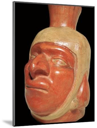 Mochica pottery vessel of a hook-nosed man. Artist: Unknown-Unknown-Mounted Giclee Print