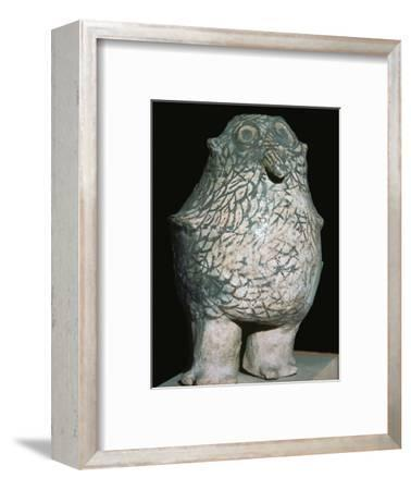 Zuni tribe water vessel in the form of an owl. Artist: Unknown-Unknown-Framed Giclee Print