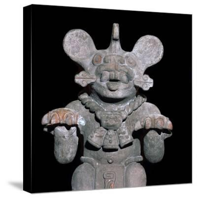Aztec statuette of a bat-god. Artist: Unknown-Unknown-Stretched Canvas Print