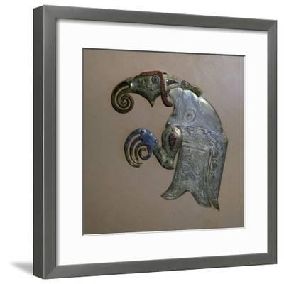 Anglo-Saxon bird ornament from the Sutton-Hoo ship burial. Artist: Unknown-Unknown-Framed Giclee Print