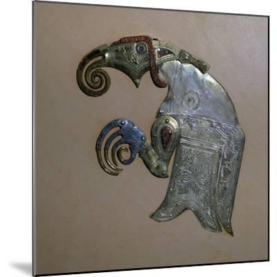 Anglo-Saxon bird ornament from the Sutton-Hoo ship burial. Artist: Unknown-Unknown-Mounted Giclee Print