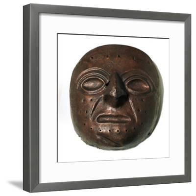 Chimu culture copper mask. Artist: Unknown-Unknown-Framed Giclee Print