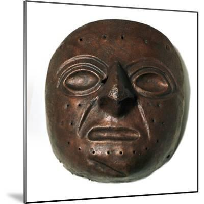 Chimu culture copper mask. Artist: Unknown-Unknown-Mounted Giclee Print