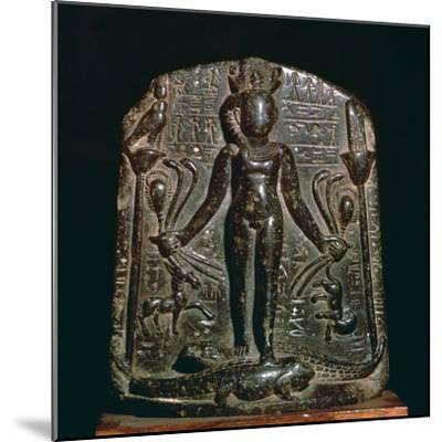 Egyptian stele showing the infant Horus, 4th century. Artist: Unknown-Unknown-Mounted Giclee Print