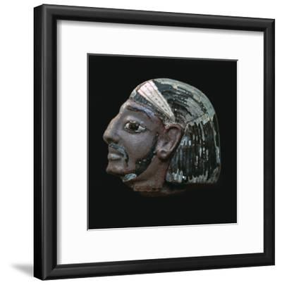 Egyptian glazed relief of a Hittite slave. Artist: Unknown-Unknown-Framed Giclee Print