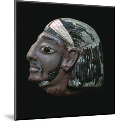 Egyptian glazed relief of a Hittite slave. Artist: Unknown-Unknown-Mounted Giclee Print