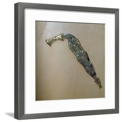 Anglo-Saxon dragon ornament from the Sutton-Hoo ship burial. Artist: Unknown-Unknown-Framed Giclee Print