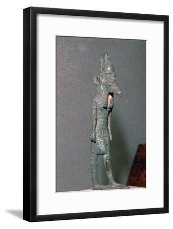 Bronze statuette of the Egyptian god Set. Artist: Unknown-Unknown-Framed Giclee Print