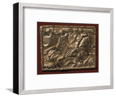 Gold plaque showing a Scythian hunter, 5th century BC Artist: Unknown-Unknown-Framed Giclee Print