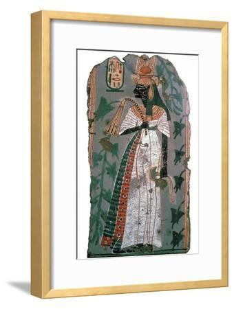 Egytian wall-painting of queen Ahmose-Nefertari, 16th century BC Artist: Unknown-Unknown-Framed Giclee Print
