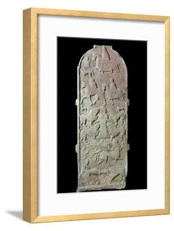Pictish cross-slab showing Pictish horsemen and centaurs, 7th century Artist: Unknown-Unknown-Framed Giclee Print