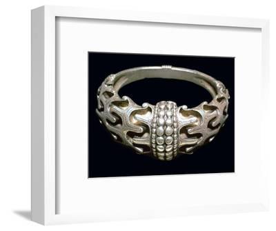 Massive silver Viking bracelet, 10th century. Artist: Unknown-Unknown-Framed Giclee Print