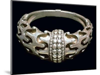 Massive silver Viking bracelet, 10th century. Artist: Unknown-Unknown-Mounted Giclee Print