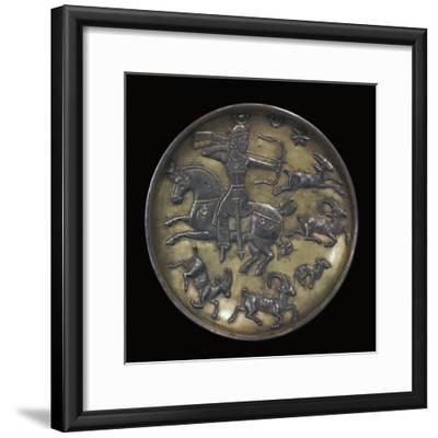 Sassanian dish showing King Ardashir III hunting. Artist: Unknown-Unknown-Framed Giclee Print