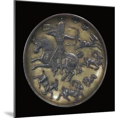 Sassanian dish showing King Ardashir III hunting. Artist: Unknown-Unknown-Mounted Giclee Print