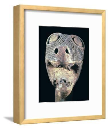 The Academician's' animal head-post from the Oseburg ship burial. Artist: Unknown-Unknown-Framed Giclee Print