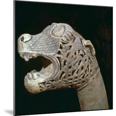 The Academician's' animal head-post from the Oseburg ship burial, 9th century Artist: Unknown-Unknown-Mounted Giclee Print