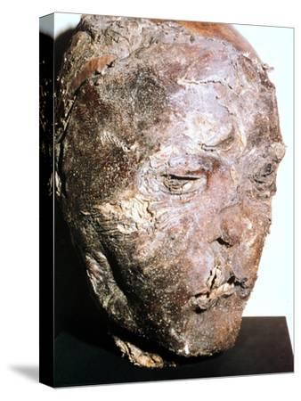 Mummified head of a Scythian chief, 5th century BC. Artist: Unknown-Unknown-Stretched Canvas Print