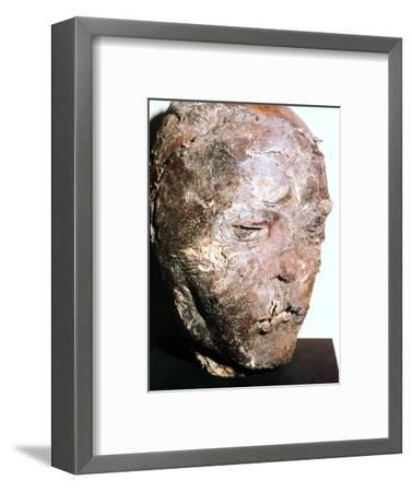 Mummified head of a Scythian chief, 5th century BC. Artist: Unknown-Unknown-Framed Giclee Print