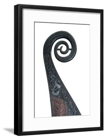 Detail of the stern of the Viking Oseburg ship, 9th century. Artist: Unknown-Unknown-Framed Giclee Print