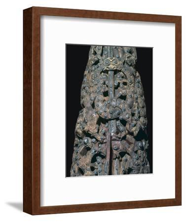 Detail of decorations from a Viking ship burial, 9th century. Artist: Unknown-Unknown-Framed Giclee Print